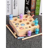 儿童蒙氏早教益智钓鱼玩具幼儿1-2-3岁周半磁性宝宝抓虫游戏木质