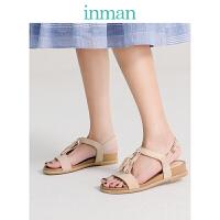 茵曼女学生英伦凉鞋时尚流苏花朵复古罗马女鞋XZL19X127