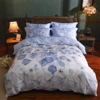 家纺40支唯美中国风纯棉床单四件套 秋冬被套床上用品全棉四件套 适合1.5-1.8米床:被套200*230cm 床