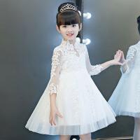 生日晚礼服儿童礼服公主裙女童蓬蓬纱夏 花童钢琴演出服婚纱主持人