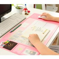 办公桌垫 可爱清新多功能超大电脑垫 PVC防水垫糖果色鼠标垫