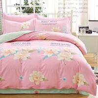 床上四件套棉1.8m简约床单被套2.0米单双人夏季床上用品