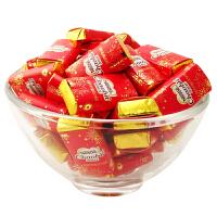 徐福记 迎春牛奶巧克力 宽片型 500g 散装称 年糖喜糖零食(代可可脂)