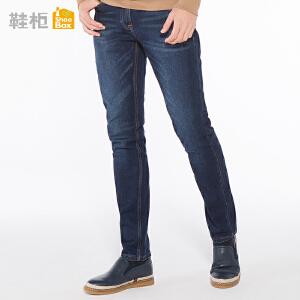 【12.12提前购2件2折】达芙妮集团鞋柜18春季OSWIN休闲平底一脚蹬男鞋舒适男单