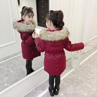 女童棉衣冬装新款儿童羽绒袄宝宝中长款外套