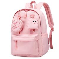 韩版粉色可爱儿童书包小学生女生3-4-6三到六年级双肩包轻便背包