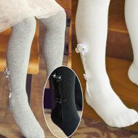 春秋款纯色立体木耳边连裤袜 舞蹈袜