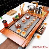 茶具套装家用全自动四合一整套紫砂功夫陶瓷茶台茶道实木茶盘茶海 40件