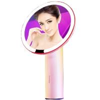 AMIRO镜子化妆镜台式带灯日光小白镜抖音LED桌面少女公主智能镜大