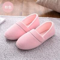 春夏天月子鞋软底包跟孕产妇产后秋冬季室内透气薄款棉拖鞋女