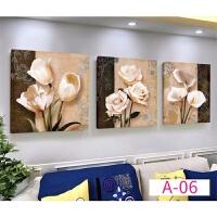 客厅装饰画现代简约大气沙发背景墙三联画壁画字画挂画家和万事兴 A-06 80*80