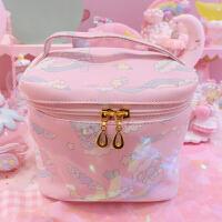 日系可爱彩虹大容量化妆包女多功能便携手提收纳包旅行收纳袋