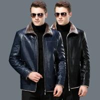 新款正品男装冬季皮毛一体加绒加厚绵羊真皮衣夹克外套