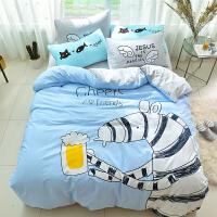 床上用品纯棉四件套全棉床单被罩床笠被套被单1.5/1.8m米床