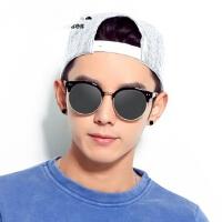 新款男士太阳镜个性半框圆眼镜潮人 韩版黑超墨镜开车偏光镜户外遮阳镜