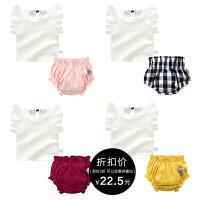 女童套装婴儿男宝宝2018新款3薄款上衣6个月夏洋气