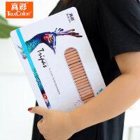 真彩油性彩铅专业美术手绘画笔素描水溶性彩色铅笔套装36/48色笔
