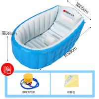 婴儿洗澡盆充气保*浴盆新生幼儿童洗澡桶大号加厚可坐躺折叠