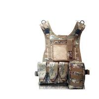 军迷两栖战术背心多迷彩模块背心作战马甲防护装备 带粘毛(+ 中国贴)