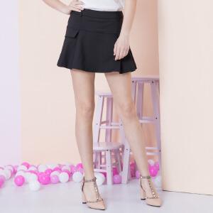 ZDORZI卓多姿夏装显瘦纯色百搭显瘦短款裙裤女732233