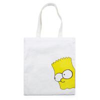 卡通印花帆布包手工缝制环保购物袋收纳袋学生包妈咪包