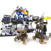 儿童塑料拼装拼插城堡积木玩具军事模型男孩组装
