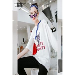 七格格短袖t恤女2018新款夏装韩版设计感潮可爱宽松百搭学生上衣小衫女