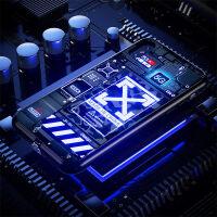声控发光手机壳iphone11promax苹果x来电闪xrxsmax玻璃11pro潮男个性创