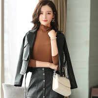 新款女士皮衣外套韩版女式皮夹克机车短款皮衣潮 SW3652