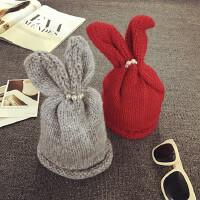 韩版宝宝帽子女童冬天帽保暖护耳帽套头帽儿童毛线帽秋天针织帽潮