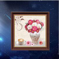 【5折包邮 限时抢购】物有物语 十字绣 魔方圆钻石画小幅新款客厅新款十字绣幸福柔情花瓶