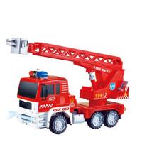电动灯光音乐指纹触摸儿童仿真模型工程车玩具汽车 585-5526消防车 官方标配