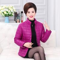 中年人妈妈冬装棉衣外套2017新款中老年羽绒女短款棉袄40岁50