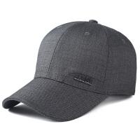 中年男帽子春秋天男士棒球帽秋季布料休闲老人帽中老年鸭舌帽薄款