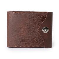男士钱包多功能磁扣三折男士现货零钱袋硬币钱包定制