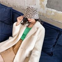 七格格外套女2020春季新款韩版宽松显瘦白色气质中长款呢子大衣潮