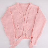 秋冬季少儿童舞蹈服装毛衣长袖女童练功服针织披肩外套女孩