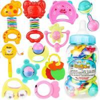 宝宝婴儿玩具婴儿摇铃牙胶手摇铃0-3-6-12个月幼儿0-1岁