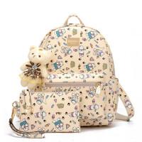 女包可爱印花双肩包小清新子母包中学生书包旅行包