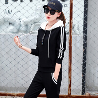 秋季新款运动套装女韩版时尚休闲服女装大码卫衣显瘦两件套潮 X
