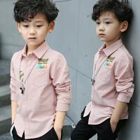 儿童春季衬衫长袖2018新款男孩白衬衣韩版潮