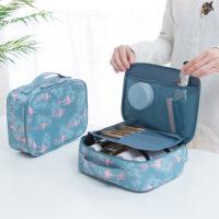 泰蜜熊化妆包小号便携简约大容量旅行洗漱包少女心化妆品收纳盒