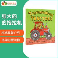 英国进口凯迪克 英文英语 原版绘本 Tremendous Tractors 神奇的机器系列读物:强大的的拖拉机 趣味科