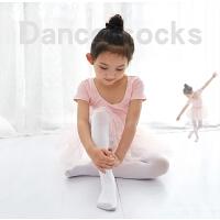 儿童连裤袜春秋冬女童打底裤练功中厚跳舞白色丝袜舞蹈袜