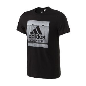 adidas阿迪达斯男装短袖T恤2018年新款运动服BK2794