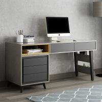 北欧简约现书桌书架书椅套装卧室台式电脑桌椅组合书房办公桌