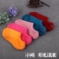 毛巾船袜男 加厚运动袜隐形硅胶防滑棉短袜女 夏季脚底篮球浅口袜