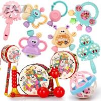 婴儿玩具0-1岁牙胶手摇铃男女宝宝新生幼儿0-3-6-12个月早教益智8 +吉祥5件套+3件套