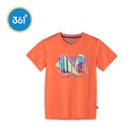 【1.17大牌日3折价:32.7】361度童装男童T恤儿童短袖针织衫2018年夏季新款儿童短袖T恤N51823213