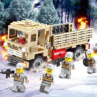 积木拼装玩具3-6周岁10岁益智男孩城市警察军事坦克系列